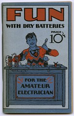 Fun with Dry Batteries (Alan Mays) Tags: old blue red boys vintage children fun typography experiments 1930s antique dry books tools ephemera equipment type electricity covers batteries borders bookcovers desks amateurs pliers companies typefaces manufacturers handbooks electricians eveready booklets nationalcarbonco drybatteries