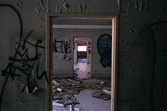 Devers Rooms (xbuckleup) Tags: abandoned film lomo lomography decay framing depth doorways stateschool pauldevers