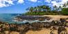 Secret Beach (clarsonx) Tags: panorama water clouds landscape hawaii lava sand rocks surf day cloudy shoreline secretbeach maui explore palmtrees pacificocean shore makena weddingbeach makenacove paakocove