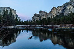Blue Hour at the Valley View (Trung_Hoang) Tags: longexposure reflection nature night landscape scenery yosemite bluehour valleyview gatesofthevalley