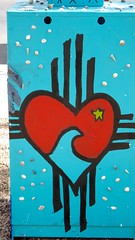 Zia Heart (suenosdeuomi) Tags: art graffiti heart recycled library repurposed freelibrary ziasymbol canons90