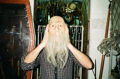 (Marco Antonecchia) Tags: beard funny mask head oldman contax fujifilm t2 contaxt2 fujicolor agostinelli