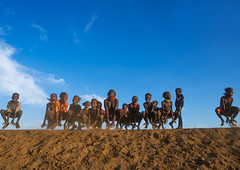 Dassanech tribe children dancing and jumping, Omo valley, Omorate, Ethiopia (Eric Lafforgue) Tags: africa travel girls people haircut color boys smile smiling horizontal fun outdoors happy photography jumping sand dancing african joy happiness tribal line omovalley copyspace ethiopia cheerful tribe ethnic hairstyle groupofpeople developingcountry ethnicity hornofafrica ethiopian eastafrica toothysmile abyssinia fulllenght traveldestination omorate africanethnicity indigenousculture geleb ethnicgroup dassanech southethiopia dassanetch daasanach dasaanech daasanech dassanach omoratte ethio161964