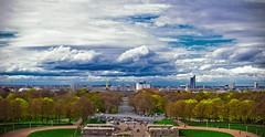 Leipzig (Julian P_) Tags: city blue panorama white cold green monument clouds air dramatic battle leipzig nations of