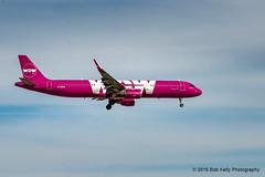 WOW Air, TF-MOM (Bob from Caledon) Tags: aircraft airplanes aeroplanes arrivals runway23 a321211 cyyz tfmom torontointernationalpearsonairport wowair