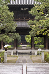 The Sanmon of Kennin-ji  (PV9007 Photography) Tags: new summer green japan temple spring kyoto sommer zen    gion grn kansai  oldest  tempel frhling   higashiyama   kenninji  rinzai  ltester shinryoku    rinzaishu aomomiji