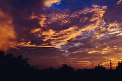 Rain sunset (Frostroomhead) Tags: sunset cloud art colors clouds landscape nikon f14 sigma 30mm d5200