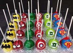 Super hero cake pops (dragosisters) Tags: cake spiderman superman superhero hulk greenlantern cakepops