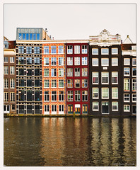 Canal Houses, Amsterdam, Netherlands (GAPHIKER) Tags: houses reflection water netherlands amsterdam canal