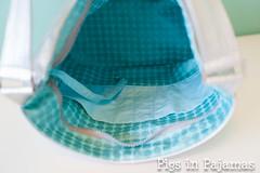 Swoon Bucket Bag inside detail (pigsinpajamas) Tags: leather silver bag bucket swoon metallic faux zipper dots lining pleather michaelmiller swoonpatterns
