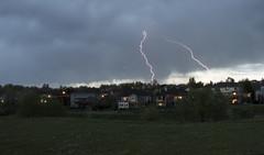 Over the Houses (noname_clark) Tags: weather dark gloomy gray overcast lightening