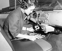 "The ""Auto Mignon"" was a record player that could be attached to the dashboard. Displayed at the International Industrial Fair, Hanover, West Germany, May 12, 1959. [669  553] #HistoryPorn #history #retro http://ift.tt/252xUoe (Histolines) Tags: west history germany that was industrial may fair player retro international be record timeline dashboard 12 hanover attached could displayed 1959 the 669  vinatage 553 historyporn automignon histolines httpifttt252xuoe"