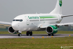 Germania Boeing 737-700 D-ABLB turning for departure on RWY35 at Cork Airport. (James O' Sullivan) Tags: ireland canon photography photo airport aircraft cork aviation sigma photographs airline boeing germania ork boeing737 canoncamera eick corkairport boeing737700 sigma70300mm canonphotography avgeek canonphoto aviationphotography boeingaircraft canon450d canonsigma sigmacanon sigmaphoto aviationphoto avporn sigmaphotography sigmaaviation canonaviation