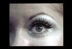 ss23-24 (ndpa / s. lundeen, archivist) Tags: people woman color eye film girl face boston closeup eyelashes massachusetts nick makeup slide slideshow mass 1970s youngwoman bostonians bostonian dewolf early1970s nickdewolf photographbynickdewolf slideshow23