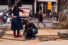 Saturday afternoon, Utrecht. 001. Art installation at the Neude square, (George Ino) Tags: copyright holland art netherlands utrecht kunst nederland innercity altstadt centrum citycentre artinstallation kunstwerk installatie pleindeneude georgeino georgeinohotmailcom neudesquare