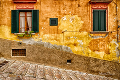 """Original Condition..."" (LouisAnnImage - The Photography of Howard Brown) Tags: street urban italy texture window island elba steps textures tuscany hdr isola portoferraio delba"