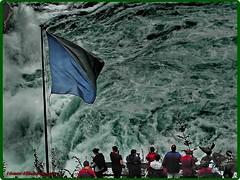 Rhine Falls (Ioan BACIVAROV Photography+3,900,000visits-Thanks) Tags: people water beautiful wonderful interesting flag waterfalls rhine photostream rhinefalls wonderfulphoto ioanbacivarov bacivarov