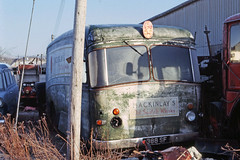 Albion Claymore (?) 388SF ex Mackinleys Whisky at Doune. Mar;83, (David Christie 14) Tags: lorry scrapyard albion doune
