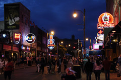 walkin' down Beale St (scott1346) Tags: vacation color night memphis restaurants clubs 1001nights touring cafes theblues 1001nightsmagiccity