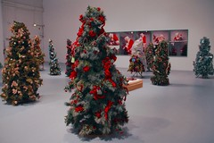 June Christmas of MOCA (tatsuya.ouchi) Tags: christmas trees red white tree green art june museum la losangeles random contemporary indoor calm fir ribbon moca 1990 geffen firtree