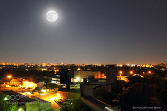 Full moon (DRoofing163) Tags: city sky urban moon night landscape industrial roofing