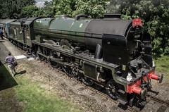 46100 - Hardingham, MNR - Reunion Steam Gala - 24.06.2016(1) (Tom Watson 70013) Tags: mnr railway steam gala train locomotive 46100 royal scot class rebuilt hardingham station run passed past fly mid norfolk