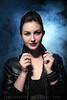 Monique (Ashley Daws) Tags: portrait woman mist girl beauty leather fog model smoke jacket frid elinchrom quarda strobist