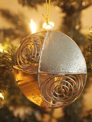 All is Golden (lindscatt) Tags: christmas xmas tree gold golden seasonal decoration christmastree hanging christmasdecoration swirl decor bauble xmastree xmasdecoration