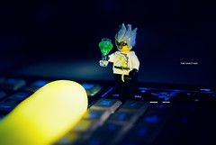 Day 67/365: The Sabotage (jennydasdesign) Tags: toy 50mm crazy keyboard lego mini figure 365 minifig collectible scientist sabotage 2012 project365 365days sonydslra300 dt50mmf18sam