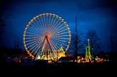 big wheel (redglobe*) Tags: light color colour night germany fun licht nikon roundabout carousel lux karussell mnster carrusel lumen sendmnster d5100