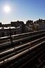(Laser Burners) Tags: nyc newyorkcity sun brooklyn train subway graffiti reader tracks flare rails bones elevated bushwick booker citynoise readmorebooks boans