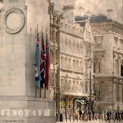 Cenotaph (Lemon~art) Tags: street people london buildings square memorial war flags national cenotaph whitehall textured 2012 thegloriousdead lemon~art