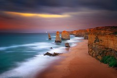 The Twelve Apostles (Victoria) (Noval N | Photography) Tags: ocean longexposure sunset cliff beach nature landscape rocks dusk australia melbourne victoria greatoceanroad