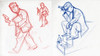 asian mob (Question Josh? - SB/DSK) Tags: illustration asian sketch comic diary journal sketchbook mob doodle gangsta datebook