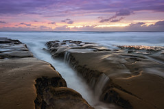 Stormy Sunset La Jolla (Lee Sie) Tags: ocean sunset sky seascape beach water rock clouds day pacific cloudy tide lajolla pools reef whitewash ccl sigma1020 nikond90