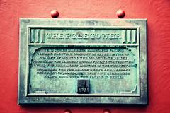 The PG & E Tower (Leighton Wallis) Tags: sanfrancisco california birthday ca usa history plaque unitedstatesofamerica goldengatebridge trivia facts 75thanniversary ggnpc11