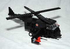 The Mountain Goat (The Purple Brick) Tags: mountain brick big war lego russia goat helicopter rockets heli minigun brickarms