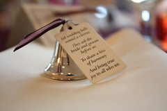Wedding bells (Sarah Ross photography) Tags: wedding decorations irish bell plum marriage ribbon tradition tabletop sarahr89 sarahrossphotography kaehlersprinkle