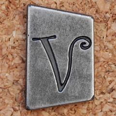 Pewter Ransom Font V (Leo Reynolds) Tags: canon eos iso100 v letter 60mm f8 oneletter letterset vvv 0ev 025sec 40d hpexif grouponeletter letterpewter letterpewterransom xsquarex xleol30x xratio1x1x xxx2012xxx
