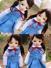 Back to school~ (Arisuyuki) Tags: anime japanese doll manga bjd dollfie schooluniform reiayanami dollmore yosd arimi babylambmiadoll miasbabydollaga daitsumi