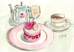 Paris pink teatime Feb 12 (Paris Breakfast) Tags: