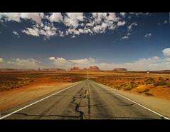Monument Valley (sverremb) Tags: arizona utah sandstone unitedstates scenic monumentvalley mittens buttes forrestgump coloradoplateau navajonation tsbiindzisgaii milemarker13 usroute163