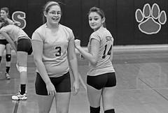 IMG_4689-01 (SJH Foto) Tags: school girls blackandwhite bw white black club high rotation volleyball substitution