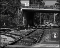 Track And Bridge. (gos1959) Tags: bridge light sign railway tunnel aalborg mygearandme mygearandmepremium mygearandmebronze pregamewinner