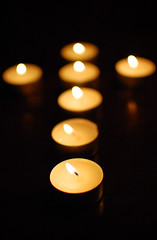 Lent votives by Jamiesrabbits, on Flickr
