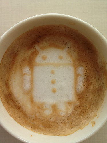 Today's latte, Android 2.3 (Gingerbread).
