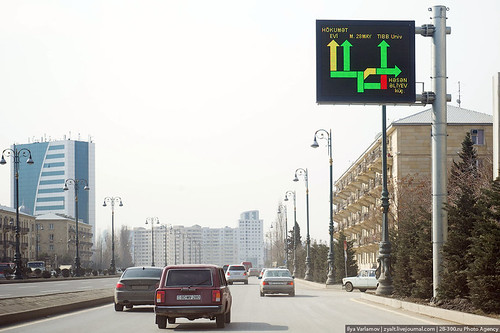 Informer about traffic jams, Baku