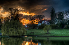 103/366 Sunset Over Doctors Pond, Great Dunmow (Mark Seton) Tags: sunset oneaday nikon places photoaday miscellaneous essex pictureaday d60 greatdunmow uttlesford project365103 doctorspond project365120412