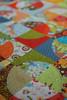 Raw edge circle patchwork (snophiejo*) Tags: circle fabric patchwork rawedge carolyngavin