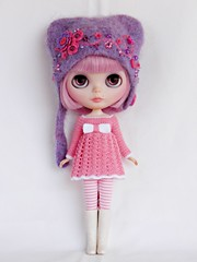 For Bruno (Leshan1) Tags: hat lilac blythe leshan feltedhat blythedress dollcrochet leshancrochet